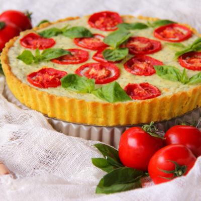 Tarta cu ricotta si rosii in stil italian