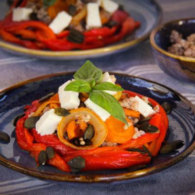 Salata de hrisca verde si legume coapte